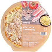Pizza de tonyina i bacó
