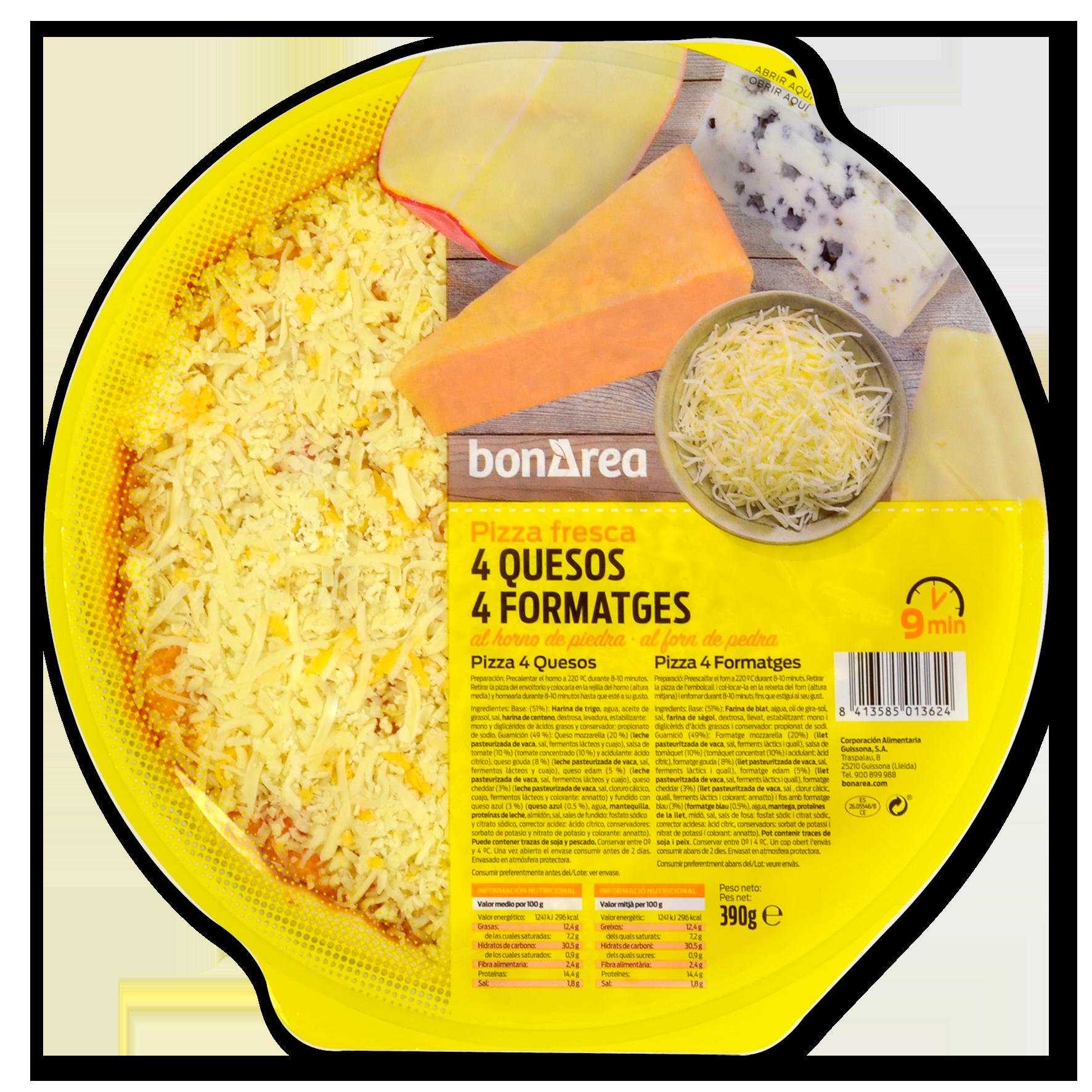 Pizza quatre formatges