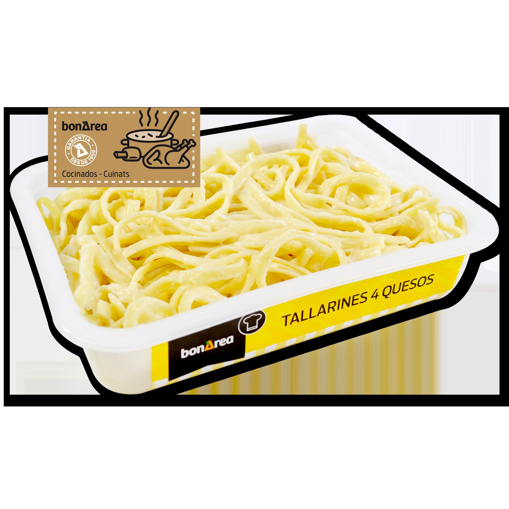 Tallarines quatre formatges