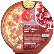 Pizza de pernil curat