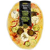 Pizza vegetal amb formatge de cabra