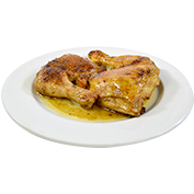 Traseros de pollo asados