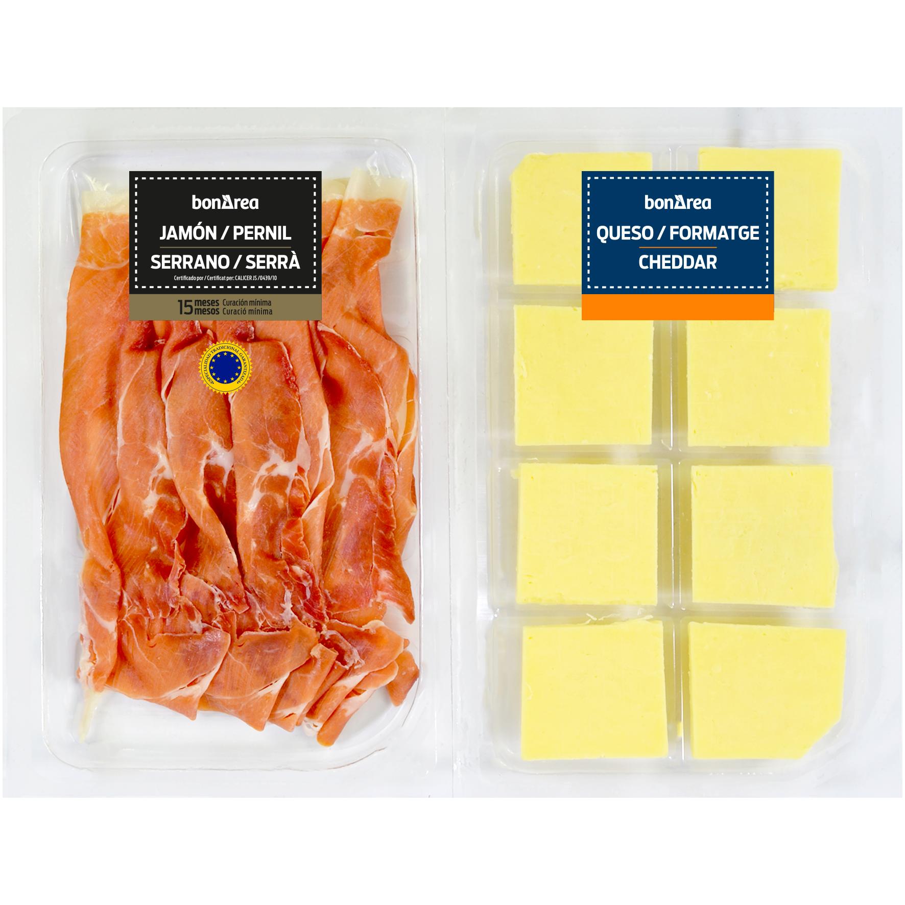 Tabla de jamón y queso