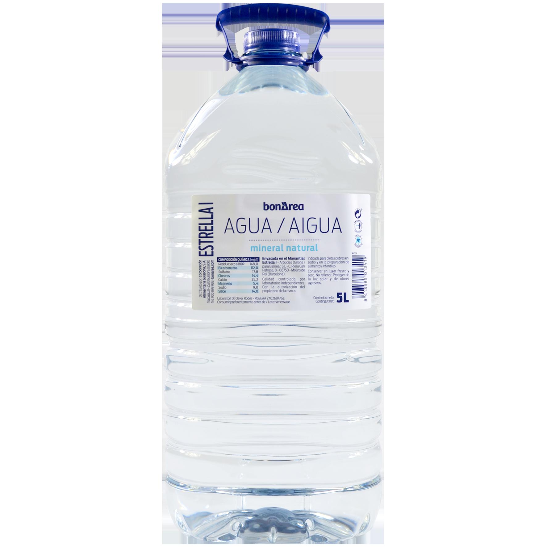 Aigua mineral natural garrafa pet