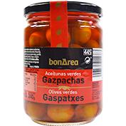 Aceitunas verdes gazpachas