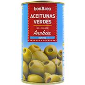 Aceitunas verdes rellenas de anchoas suaves 240/280