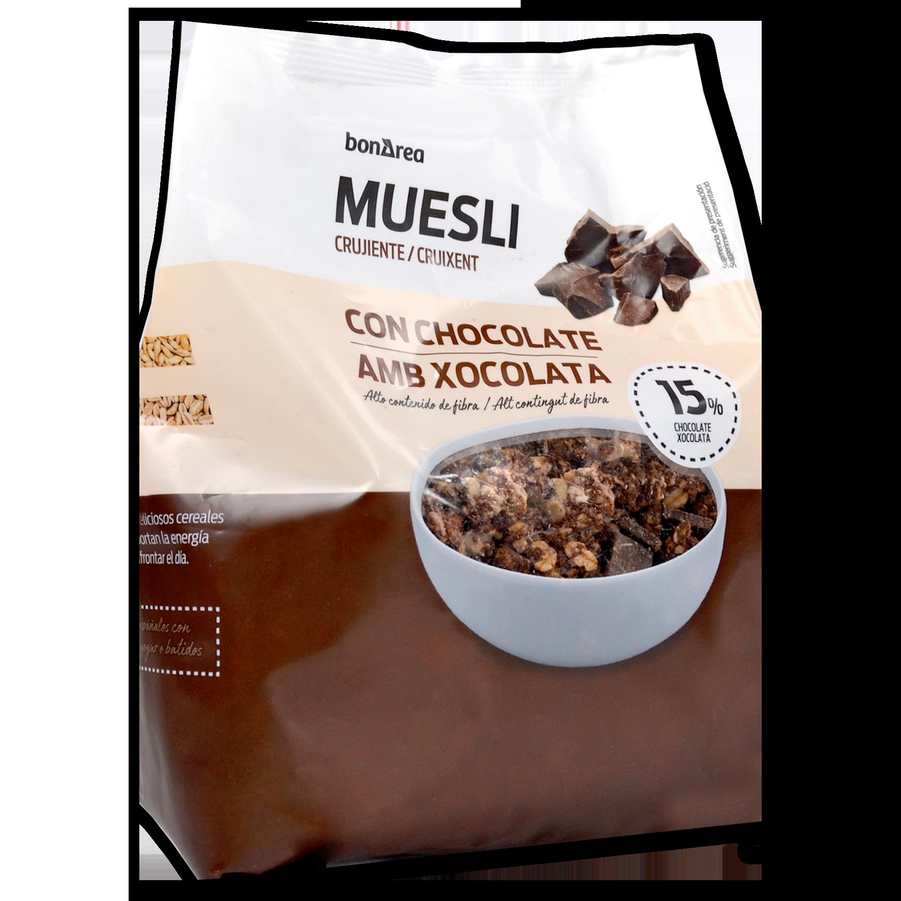 Muesli cruixent amb xocolata paquet