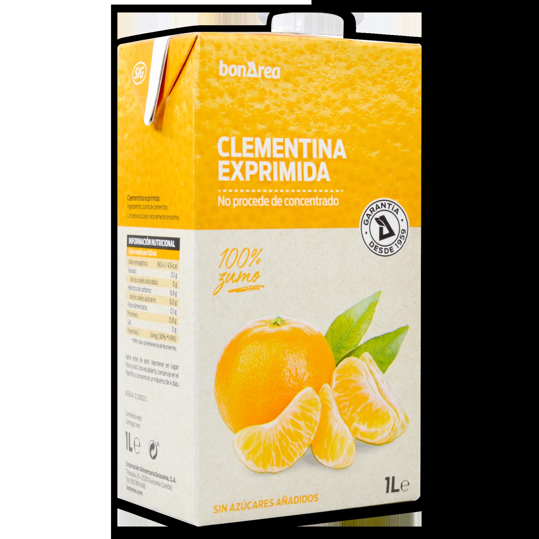Suc de clementina espremuda