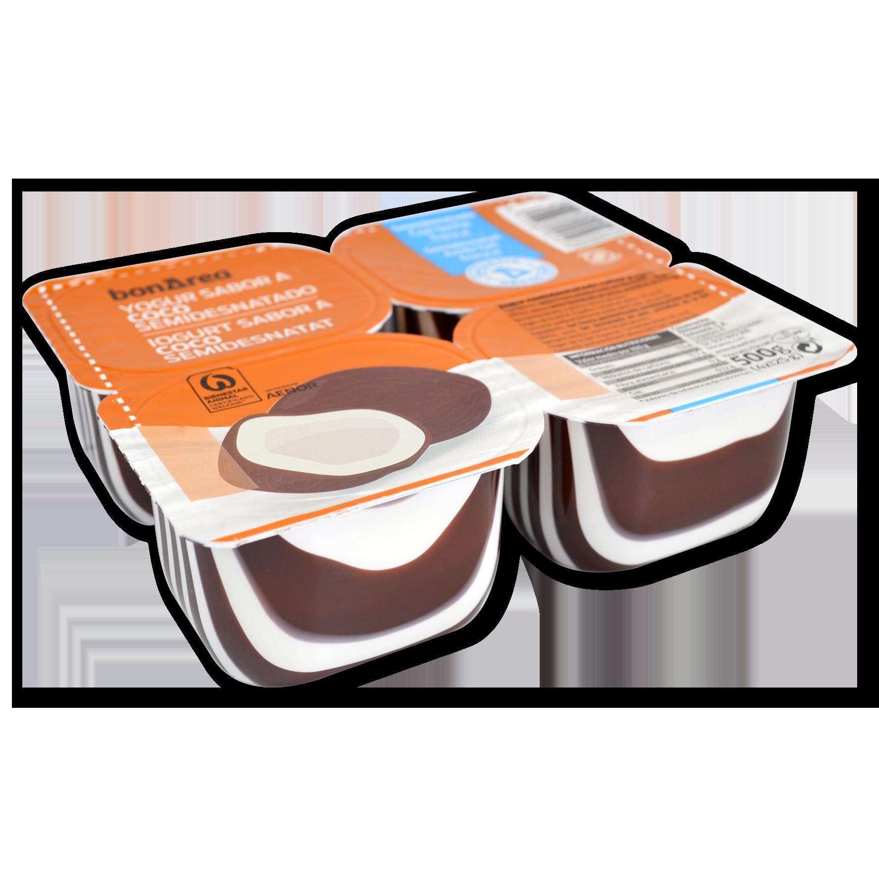 Iogurt semidesnatat sabor coco 4 u. de 125 g