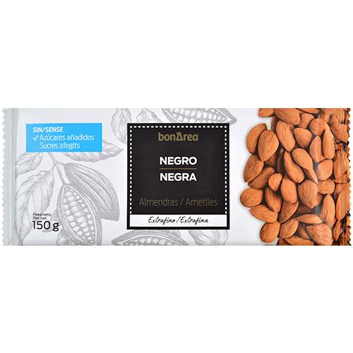 Xocolata extrafina pura amb ametlla sense sucre