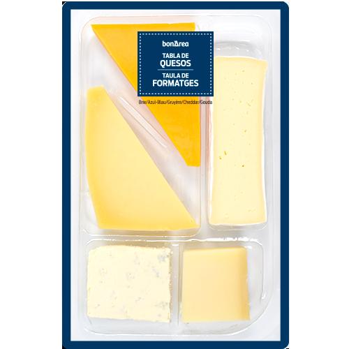 Tabla de quesos de importación