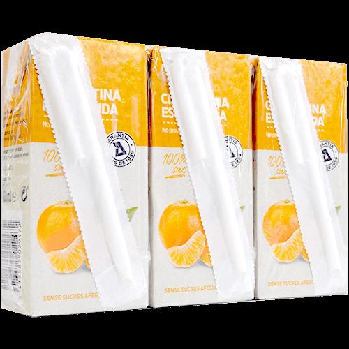 Zumo de clementina exprimida paq. 3 u. de 200 ml