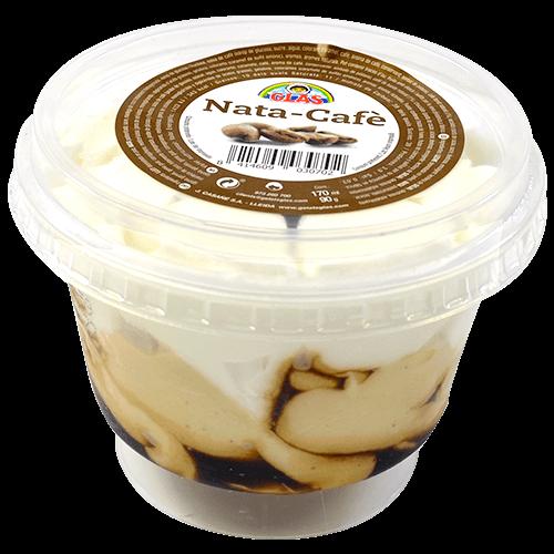 Copa gelada de nata amb cafè
